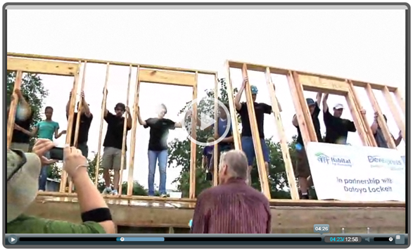 Video: Habitat For Humanity - Wall Rasing Ceremony w/DevExpress
