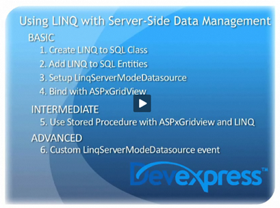 Video: LINQ and ASPxGridView