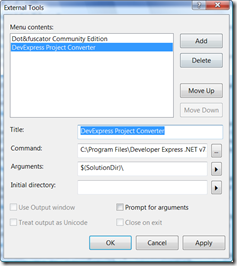 Project Converter and Visual Studio Integration
