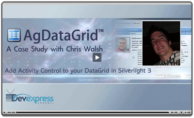 Video: Case Study with Chris Walsh showing Silverlight 3 and AgDataGrid Demo