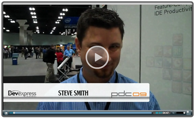 PDC 2009 Video: Steve Smith discusses Software Craftsmanship