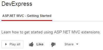 ASP.NET MVC - Getting Started (YouTube lessons)