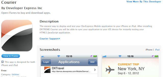 DevExpress DXTREME iOS App