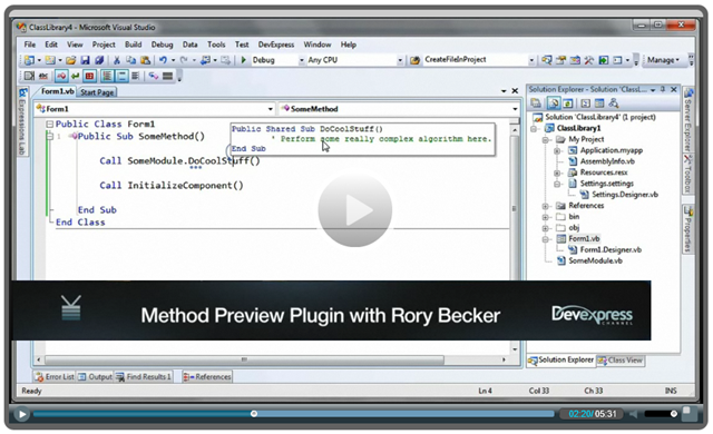 CR_MethodPreview Plugin Screencast