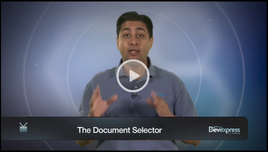 Video: DevExpress ASP.NET HTML Editor - Document Selector