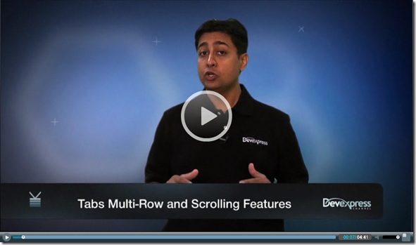 Video: ASP.NET Tab Scrolling and Multi-row