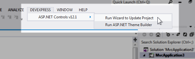 DevExpress ASP.NET wizard