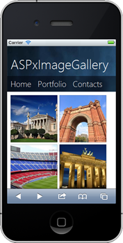 DevExpress ASP.NET Image Gallery Control - Responsive - iPhone Mobile Browser