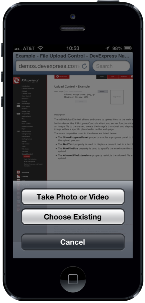 Upload pictures from ipad iphone or android using for Ipad o android