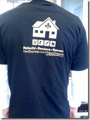 DevExpress TShirt TechEd Back