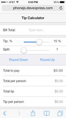 Tip calculator on iOS7