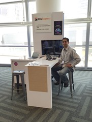 DevExpress booth with Mehul Harry at Microsoft Build 2015