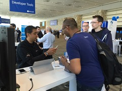 Mehul demoing DevExtreme on a Nokia phone