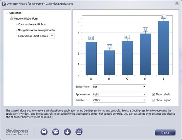 ClientArea-Chart Control