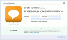 DXTREME Trial Download page