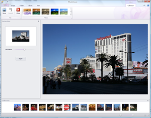 PhotoViewer demo application showing horizontal gallery