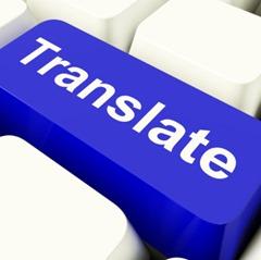 Translate Computer Key In Blue Showing Online Translator