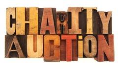 Letterpress Charity Auction title