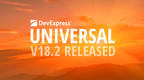 DevExpress Universal v18.2 released