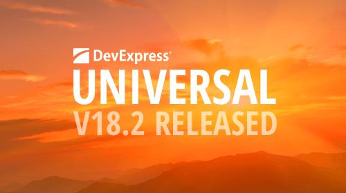 DevExpress Universal v18.2 released