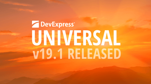 DevExpress Universal v19.1 released