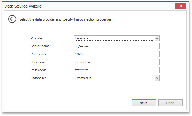 Teradata support in the Data Source Wizard in v15.1