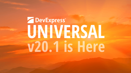 DevExpress Universal v20.1 released