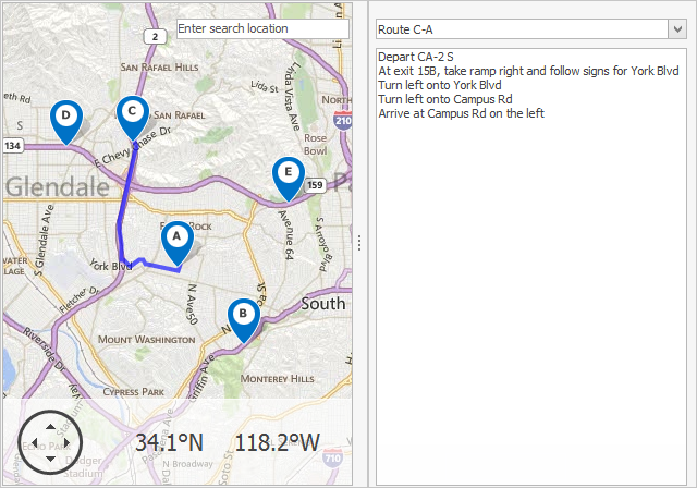 DevExpress VCL v14.2: Map Control Routes from Major Roads