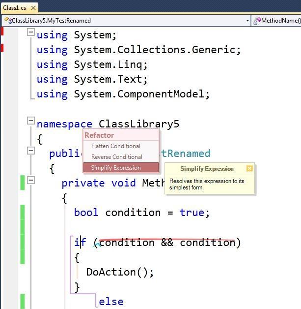 VS10_SimplifyExpression Code Preview
