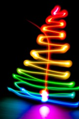 Xmas tree as light painting