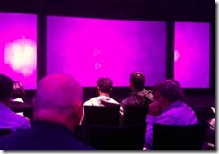 Waiting for the start of the VS2012 launch event