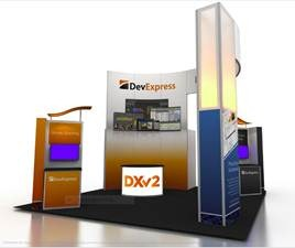 DevExpress booth mockup