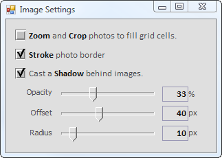 Image Settings lookalike