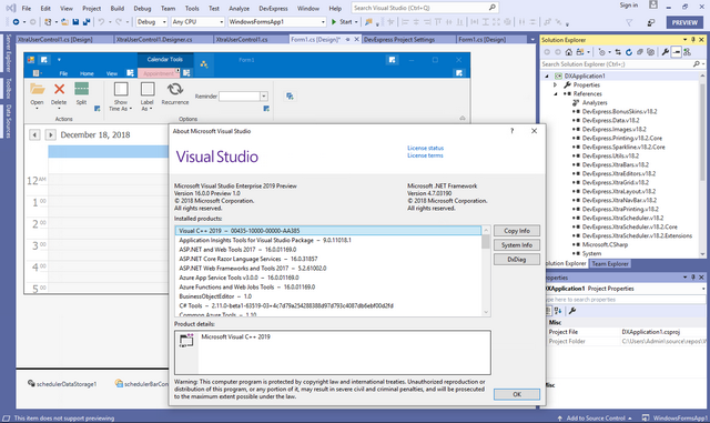Visual Studio 2019 and  NET Core 3 Support