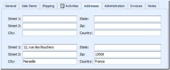 XCRM Order Address