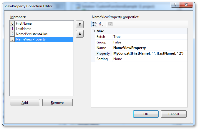 ViewProperty Collection Editor