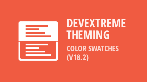 DevExtreme - Color Swatches (v18.2)