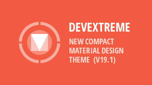 DevExtreme - New Compact Material Design Theme (v19.1)