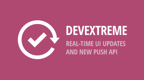 DevExtreme - Real-Time UI Updates and New Push API (v18.2)