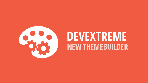 DevExtreme – New ThemeBuilder