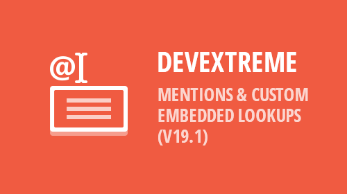 DevExtreme - HTML Editor - Mentions (v19.1)