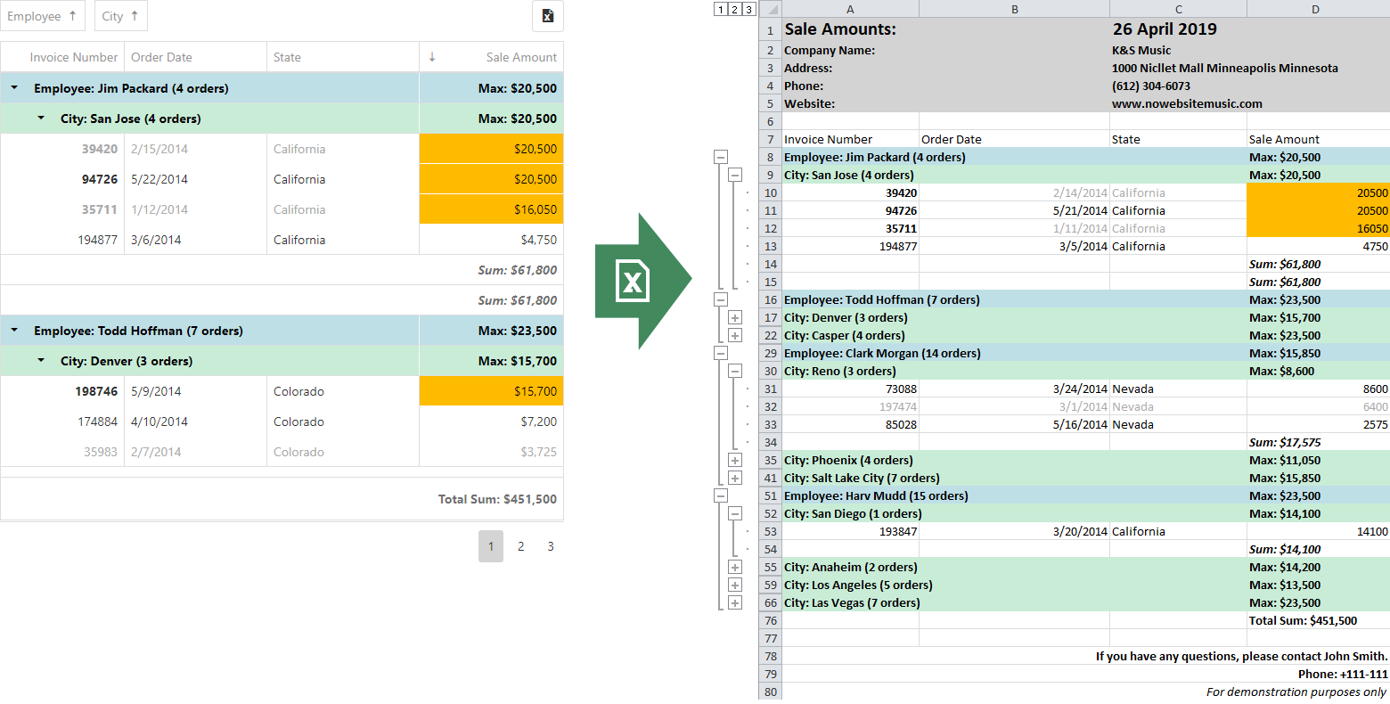 DevExtreme - Data Grid - New Excel Export API (CTP in v19 1)