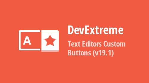 JavaScript Editors - Custom Buttons (v19.1)
