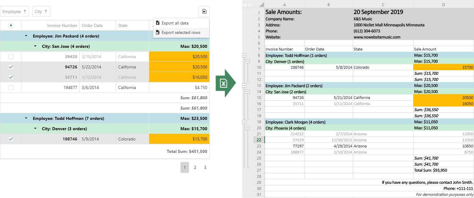 DevExtreme - Data Grid - New Excel Export API Update (CTP in v19.1)