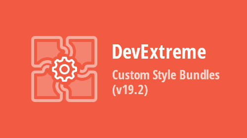DevExtreme - Custom Style Bundles (v19.2)
