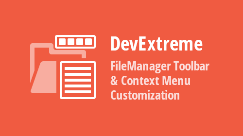 DevExtreme - File Manager Toolbar And Context Menu Customization (v19.2)