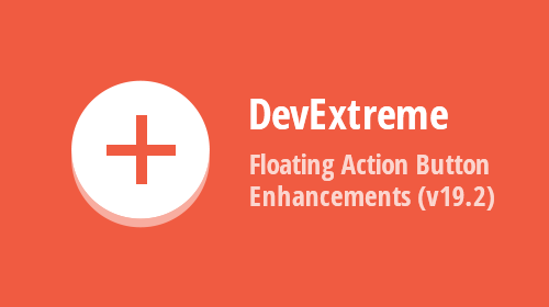 DevExtreme Floating Action Button Enhancements (v19.2)
