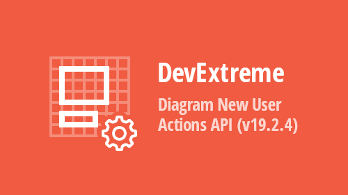 DevExtreme - Diagram - New User Actions API (v19.2.4)