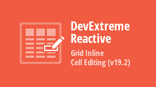 DevExtreme - React Grid - Inline Cell Editing (v19.2)