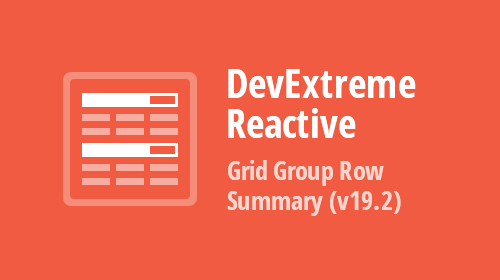 DevExtreme - React Grid - Group Row Summaries (v19.2)